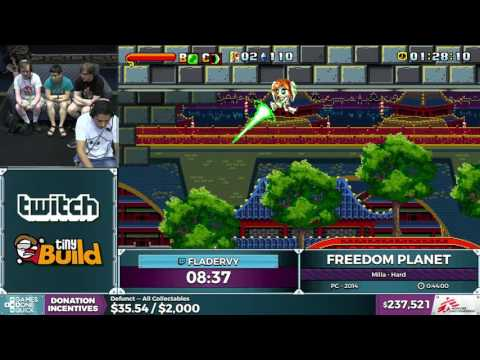 Freedom Planet by Fladervy in 0:41:41 - SGDQ2016 - Part 58