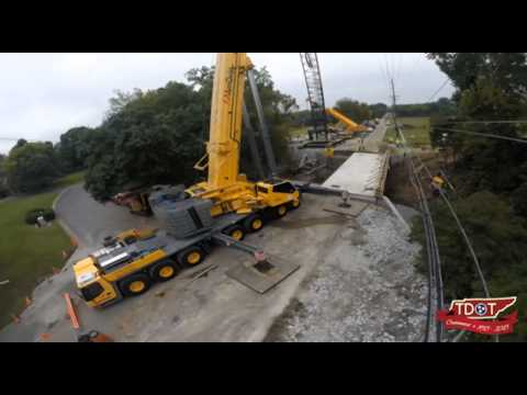 TDOT Time Lapse Video of Accelerated Bridge Construction (ABC)