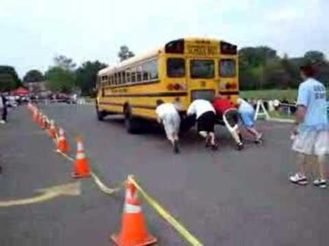 school bus push