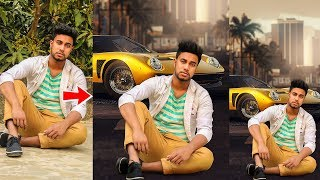 Picsart Editing Tutorial Boy Stand on Car  Photo Manipulation Tutorial