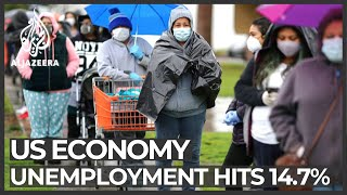 US unemployment rate hits 14.7 percent, highest since Great Depression
