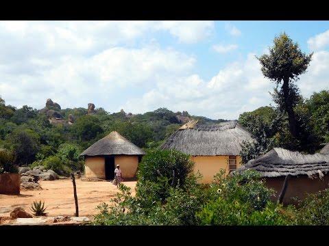 Zimbabwe  Ndebele + San-Felsmalerei / Rock painting HD