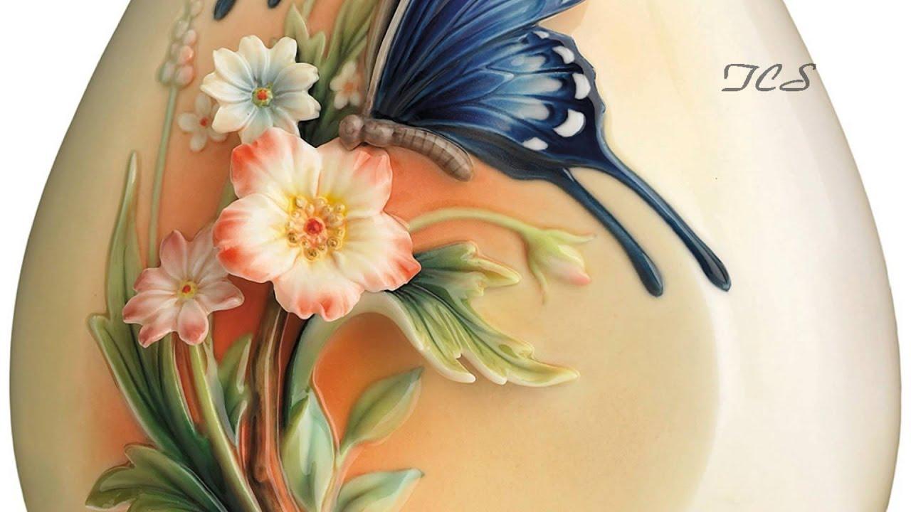 Franz porcelain fluttering beauty flower and butterfly small vase franz porcelain fluttering beauty flower and butterfly small vase the collection shop reviewsmspy