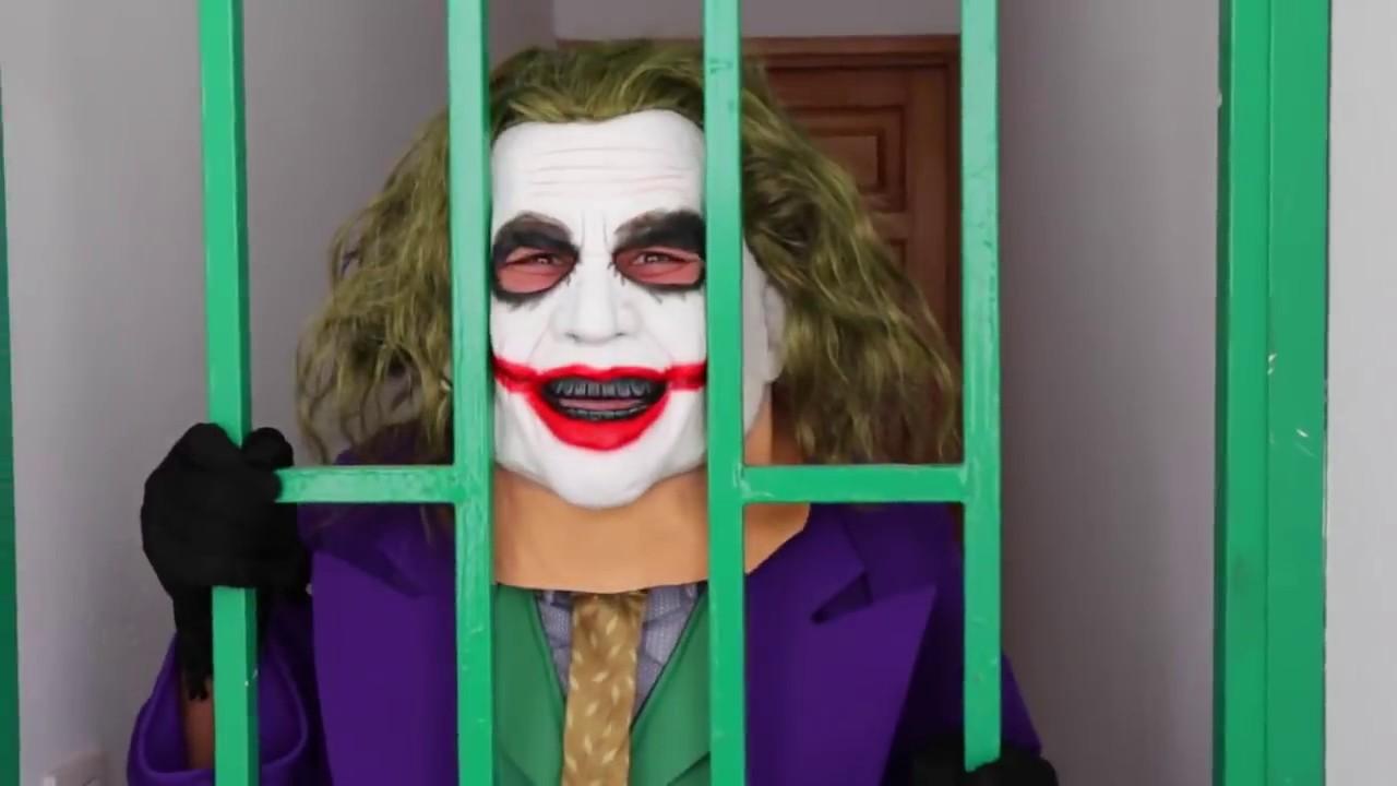 Spiderman vs Joker vs Batman Joker goes in Jail Real Life Superheroes Movie