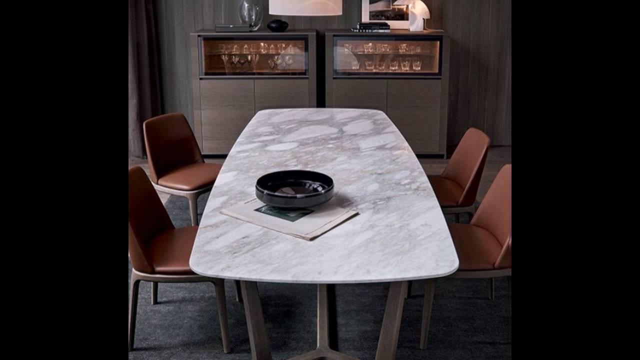 Büromöbel Besprechungstisch Marmor Tischplatte Braun - YouTube