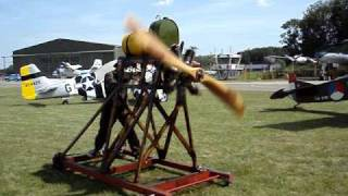 Starting a 100 year old rotory airplane engine