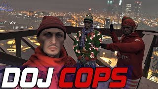 Dept. of Justice Cops #610 - Snow Parkour Bridge Climbers