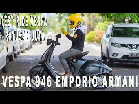 Test Ride Vespa 946 Emporio Armani Indonesia   #Motovloglampung 48