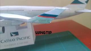 Cathay Pacific Airbus A340 Papercraft | Part 1