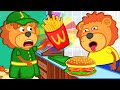 Lion Family Official Channel 🍔 Pretend Play Macdonalds | Cartoon for Kids