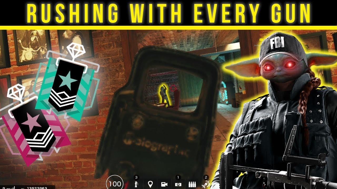 Rushing with EVERY GUN in Rainbow Six Siege