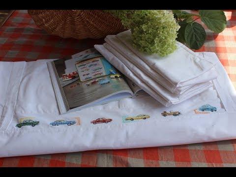 Вышивка постельного белья своими руками