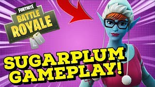 SUGARPLUM Skin Gameplay In Fortnite Battle Royale