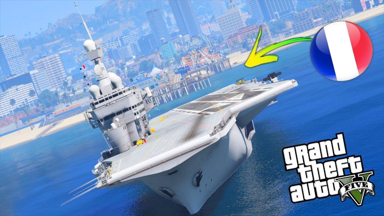 Nuova nave portaerei francese su gta 5 gta 5 mod ita - Nuova portaerei ...