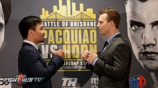 The FULL Manny Pacquiao vs. Jeff Horn Face Off Video - Sydney, Australia