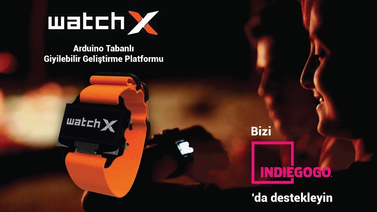 watchX - Arduino Uyumlu Giyilebilir Geliştirme Platformu
