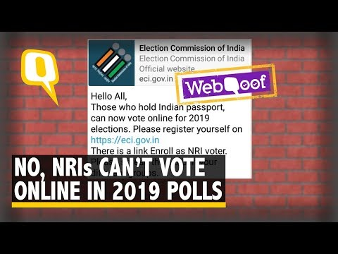 WebQoof: No, NRI Voters Can't Vote Online in 2019 Lok Sabha Elections | The Quint Mp3