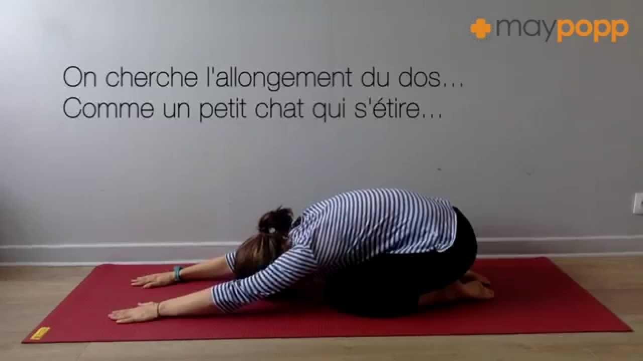 Yoga : Posture de l'enfant - Balasana
