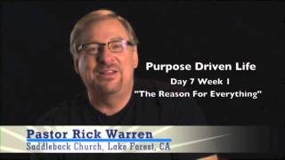Purpose Driven Life Devotional - The Reason For Everything Week 1 Day 7