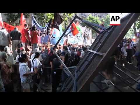 Social groups in Caracas and Buenos Aires protest against attacks in Gaza