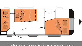 Hobby De luxe 540 KMFe Model 2018