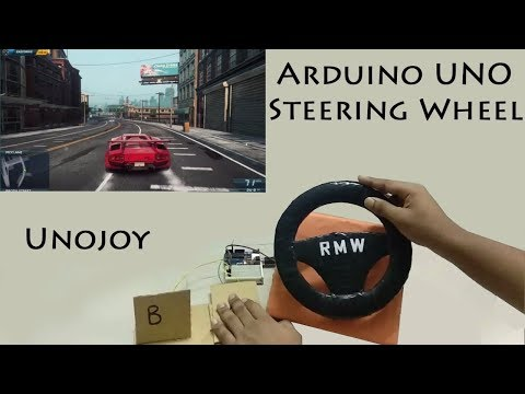 Best way to make gaming steering wheel with arduino uno | Game controller