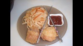Куриные бёдрышки и рисовая лапша на обед. Маринкины творинки