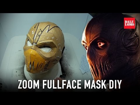 How to make Flash Zoom Mask Part 1 - Template & Cardboard (free PDF) Cosplay