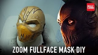 CW Zoom Mask Part 1 - PDF Template & Cardboard (free PDF) Costume Prop How To | Dali DIY
