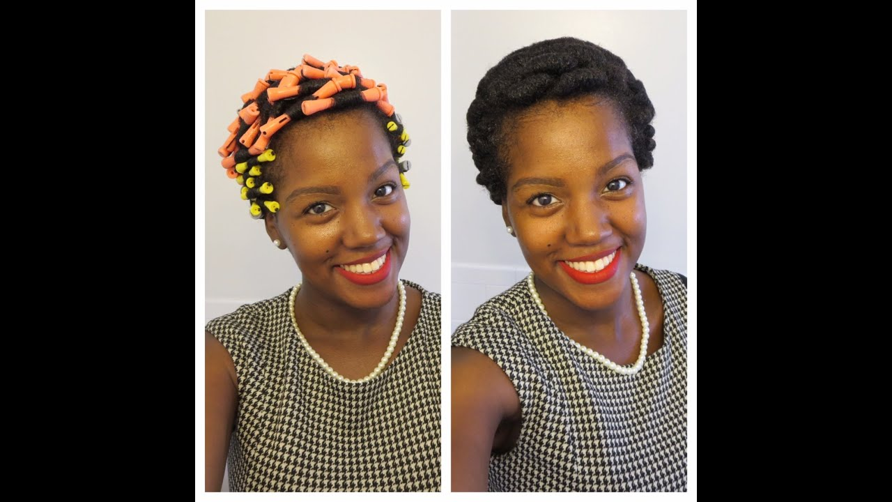 Perm Rods On Short Natural Hair Pinterest