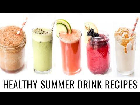5 SUMMER DRINK RECIPES YOU NEED TO TRY! | healthy & vegan