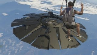We check out the UFO above Fort Zancudo in GTA 5. You can only see ...