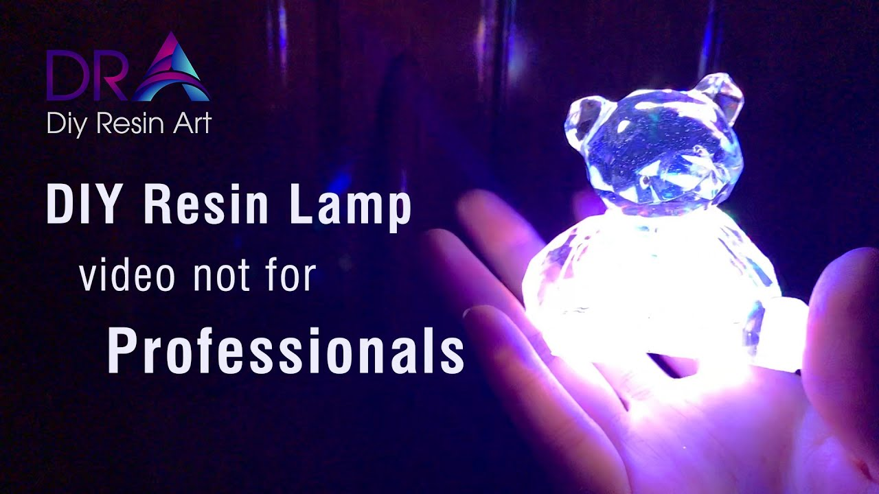 Easy making Epoxy Resin lamp with the mold | Diy Resin Art