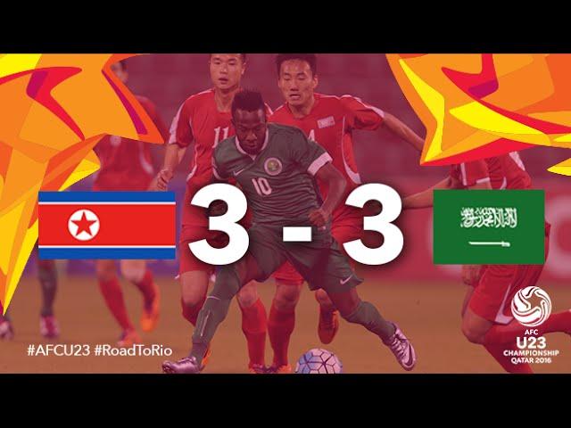 Video: U23 Triều Tiên vs U23 Ảrập Xêút