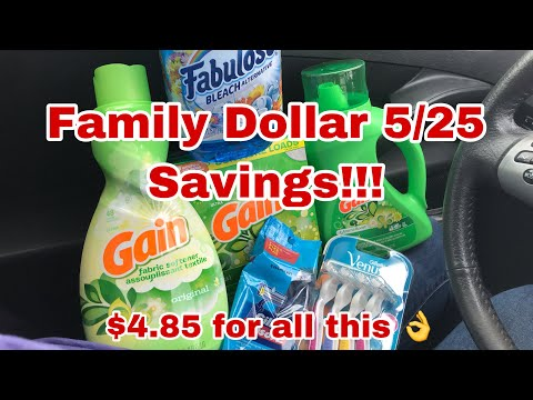 Family Dollar 5/25 Deal | Only $4.85 For 6 Items 👌🙌 Save With Me!!!