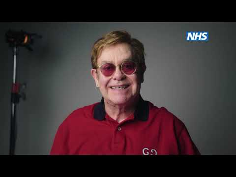 Sir Elton John and Sir Michael Caine encourage people to get vaccinated against coronavirus.