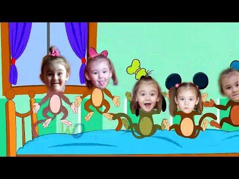 Five Little Monkeys Jumping On The Bed - Пять маленьких обезьянок / Учимся считать - Детские песни