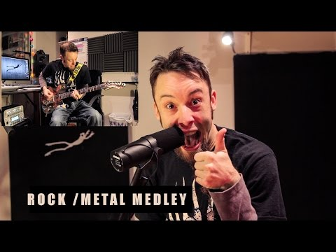 10 rockmetal songs in 2 minutes