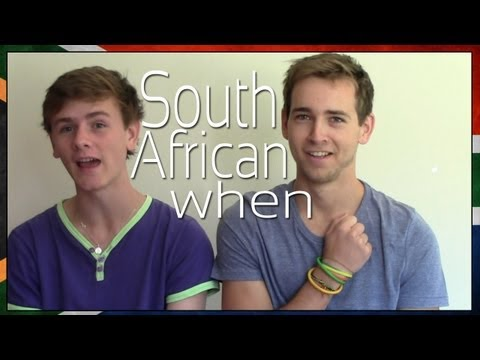 You know you are South African when