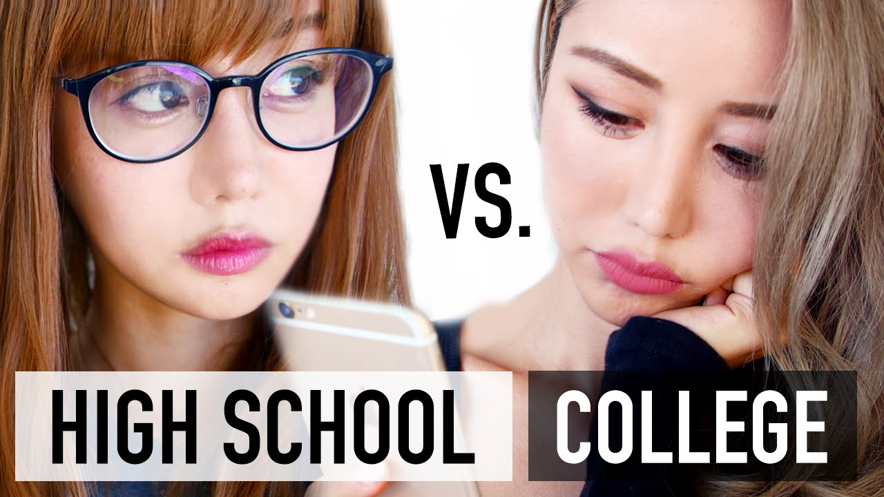 high school vs college makeup routine hearts beginners tutorial high school vs college makeup routine hearts beginners tutorial hearts wengie
