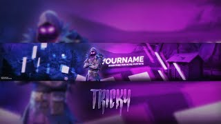 Free Fortnite Youtube Banner (Raven Skin) (Photoshop)