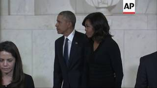 Obama, First Lady Pay Respects to Justice Scalia