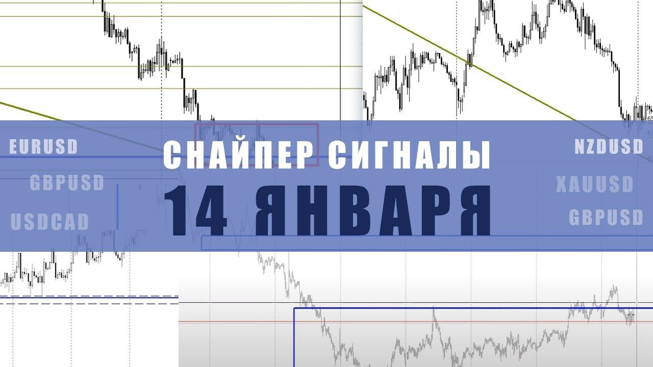 СИГНАЛЫ СНАЙПЕР НА 14 ЯНВАРЯ  | Трейдер Ян Сикорский