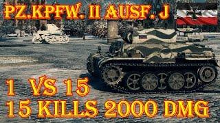 Pz.Kpfw. II Ausf. J   1  vs 15, 15 kills  Winter Himmelsdorf