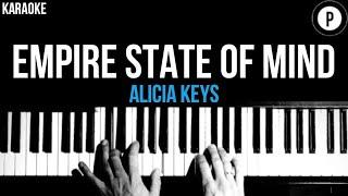 Alicia Keys - Empire State Of Mind Karaoke SLOWER Acoustic Piano Instrumental Cover Lyrics