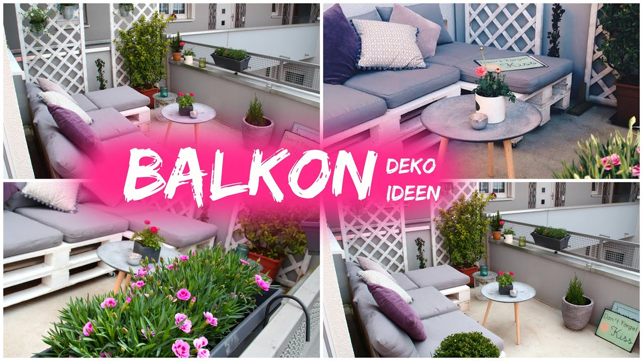 dekoideen f r balkon sommer 2018 youtube. Black Bedroom Furniture Sets. Home Design Ideas
