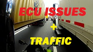 My Bike (ECU) ISSUES + INSANE Traffic, Lane Splitting