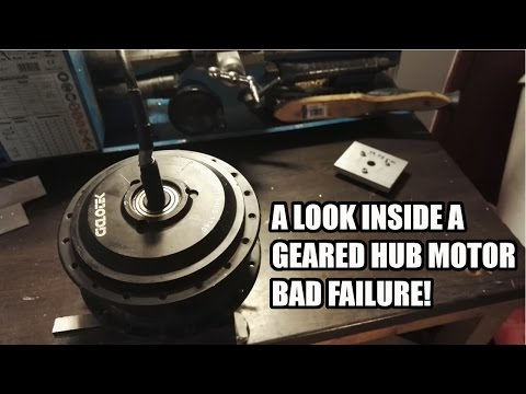 A Look Inside a Geared Hub Motor After 5000km. Bad Failure!