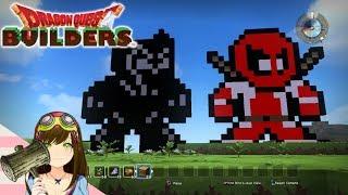 Dragon Quest Builders - Marvel Deadpool & Black Panther Pixel Art (Terra Incognita)