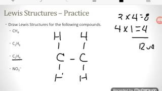 Drawing Covalent Lewis Structures (9.5, 9.7)